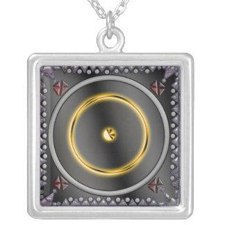 sigil do solenóide colar banhado a prata