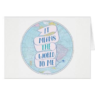 Significa-me o mundo cartões de agradecimentos do