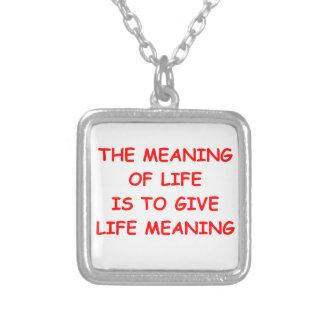 significado da vida colares