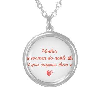 Significado especial para uma mãe e seu amor colar com pendente redondo