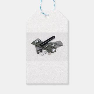 Silenciador do supressor da arma de fogo com luvas etiqueta para presente