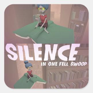 Silencie em uma rusga da sensação a etiqueta de 3