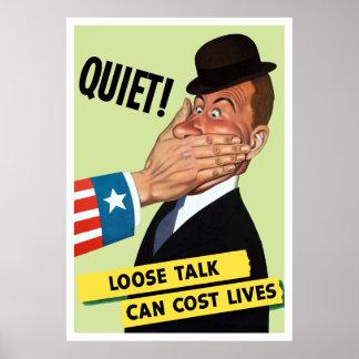 Silêncio! A conversa fraca pode custar vidas Poster
