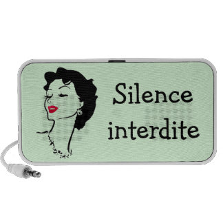 Silêncio francês dos anos 50 da mulher do batom pr caixinhas de som para notebook