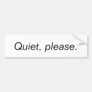 Silêncio, por favor adesivo para carro