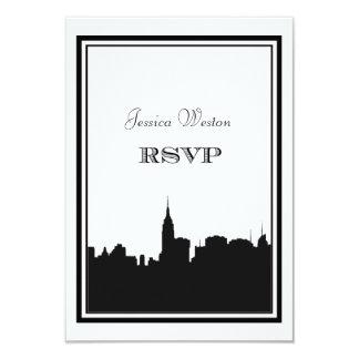 Silhueta #2 DIY RSVP da skyline de NYC Convite 8.89 X 12.7cm