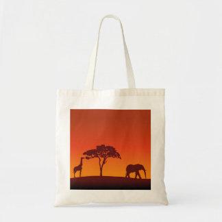 Silhueta africana do safari - o bolsa do orçamento