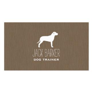 Silhueta americana de Terrier de pitbull Cartão De Visita