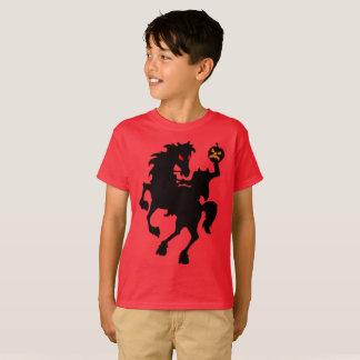 Silhueta assombrada assustador do cavaleiro camiseta