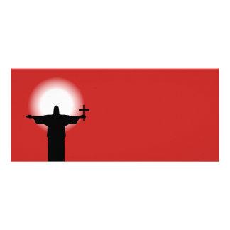 Silhueta com uma cruz 10.16 x 22.86cm panfleto