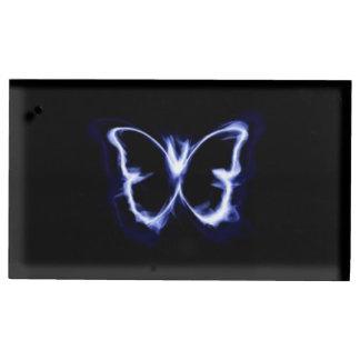 Silhueta da borboleta suportes para cartões de mesas