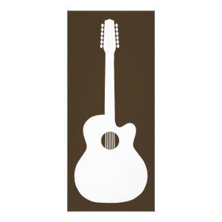 silhueta da guitarra acústica convites personalizado