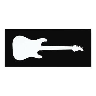 silhueta da guitarra elétrica convite 10.16 x 23.49cm