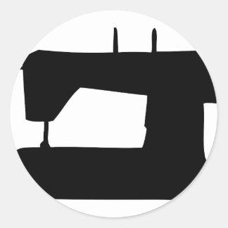 silhueta da máquina de costura adesivo
