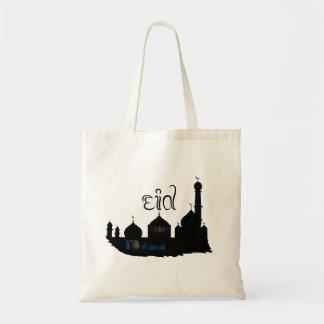 Silhueta da mesquita de Eid Mubarak - o bolsa do