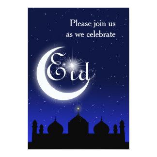 Silhueta da mesquita na noite - convite de festas