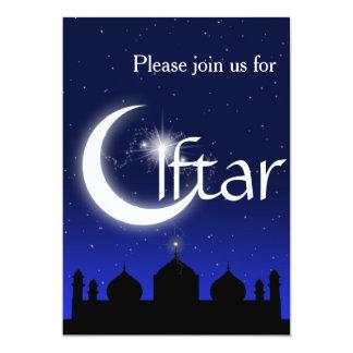 Silhueta da mesquita no convite de festas de Iftar