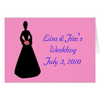 Silhueta da noiva cartão comemorativo