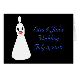 Silhueta da noiva mim cartão comemorativo