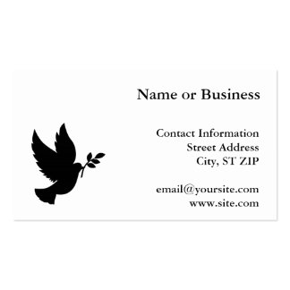 Silhueta da pomba cartao de visita