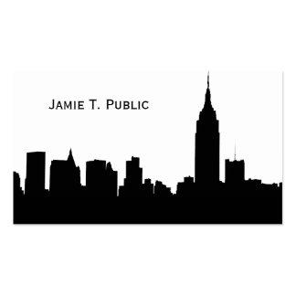 Silhueta da skyline de NYC, estado Bldg #1 do impé Cartoes De Visita