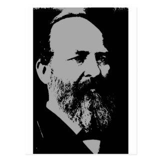 Silhueta de James A. Garfield Cartão Postal