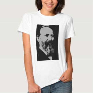 Silhueta de James A. Garfield T-shirts