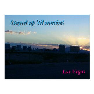 Silhueta de Las Vegas - cartão