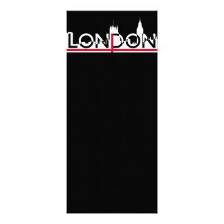 Silhueta de Londres e bandeira inglesa Panfleto