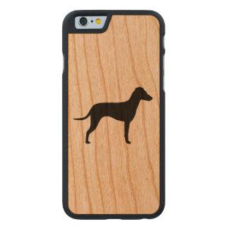Silhueta de Manchester Terrier - orelhas naturais