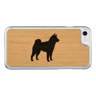 Silhueta de Shiba Inu Capa iPhone 8/ 7 Carved