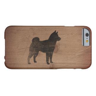 Silhueta de Shiba Inu rústica Capa Barely There Para iPhone 6