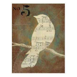 Silhueta de um pássaro cartão postal