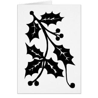 Silhueta do azevinho - cartão