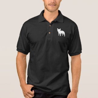 Silhueta do buldogue francês camisa polo