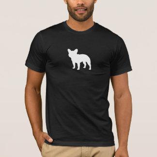 Silhueta do buldogue francês camiseta