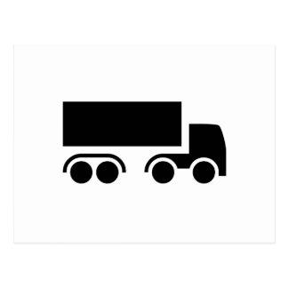 Silhueta do caminhão cartao postal