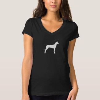 Silhueta do cão do faraó t-shirt