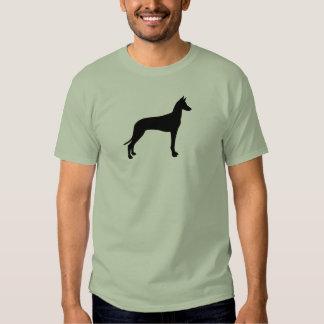 Silhueta do cão do faraó t-shirts