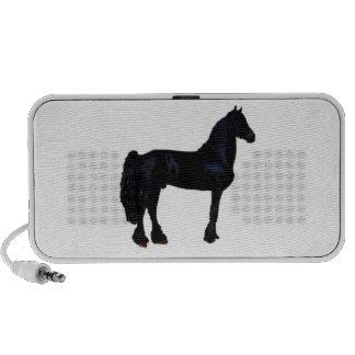 Silhueta do cavalo em preto e branco caixinha de som para iPhone