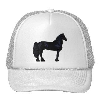 Silhueta do cavalo em preto e branco bones