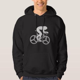 Silhueta do ciclista moletom