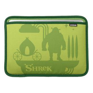 Silhueta do conto de fadas de Shrek Capas Para MacBook Air
