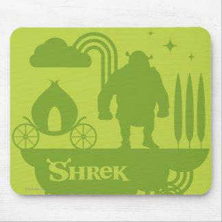 Silhueta do conto de fadas de Shrek Mouse Pad