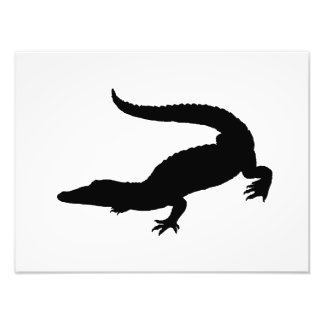Silhueta do crocodilo impressão de foto