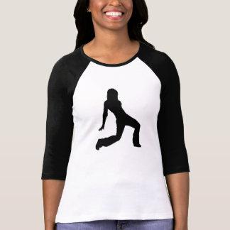 Silhueta do dançarino do hip-hop camiseta