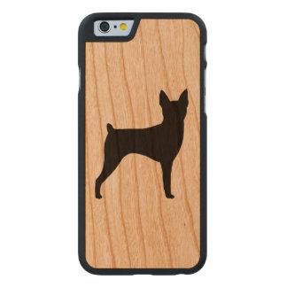 Silhueta do Fox Terrier do brinquedo rústica