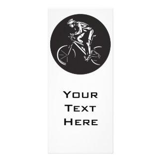 silhueta do inverse do clycer do ciclismo panfletos informativos personalizados