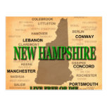 Silhueta do mapa do orgulho do estado de New Cartão Postal