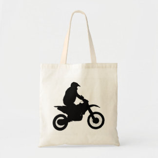 Silhueta do motocross bolsa tote